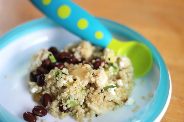 quinoa bowl with spoon
