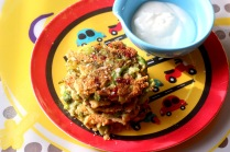 Broccolli Red Pepper Fritters